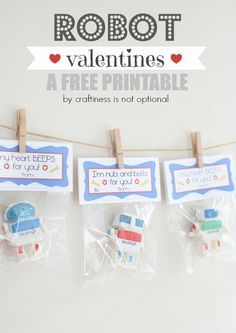 Robot Valentine-FREE printable - The Adventures of Rory and Jess and Sadie