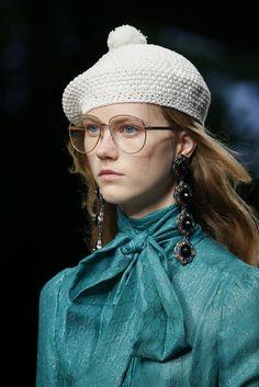 Still more crochet beret variations -- Gucci Spring 2016 RTW