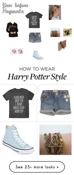 """""""Before the Letter"""" by luckypuddlejumper on Polyvore featuring Converse, potterhead, hogwarts, graphictee and pureawesomeness"""