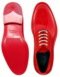 Vivienne Westwood Red Patent Leather Brogues