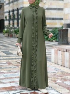 Shop our latest collection of stylish Islamic women's clothing. Our clothing is made with halal and ethical production standards in mind. Muslim Women Fashion, Islamic Fashion, Mode Abaya, Mode Hijab, Habits Musulmans, Estilo Abaya, Abaya Fashion, Fashion Outfits, Muslim Dress