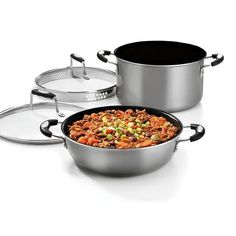 Amazon.com: Cuisinart WWA4-22P24 Weight Watchers 4-Piece Aluminum Simmer/Braise Set: Steamers: Kitchen & Dining