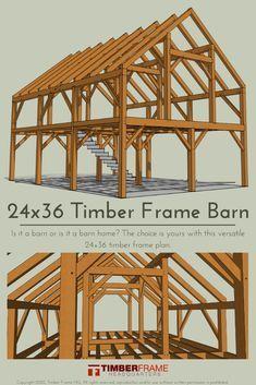 Timber Frame Home Plans, Timber Frame Cabin, Pole Barn Homes, Diy Pole Barn, Barn Style Homes, Barn House Plans, A Frame House Plans, Tiny House Cabin, Slytherin