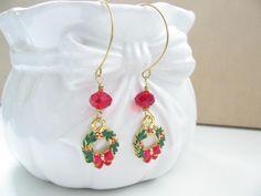 Holiday Jewelry - Christmas Earrings - Christmas Jewelry. #earrings #jewelry