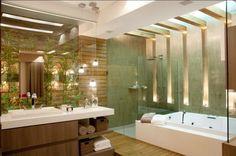 Banheiro moderno e super contemporâneo…