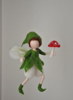 Needle Felted Elf Ornament wool doll : Gnome with от MagicWool