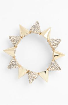 Cara Accessories Spiked Stretch Bracelet available at #Nordstrom