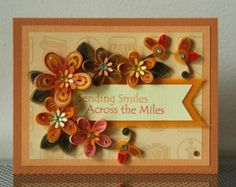 Handmade Greeting Quilling Paper Card You by FromQuillingWithLove