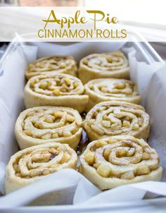 Apple Pie Cinnamon Rolls with Cream Cheese Icing |