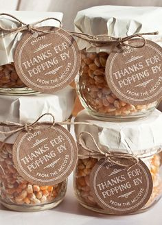 wedding favors An lovable way to thank guests -  popcorn kernels