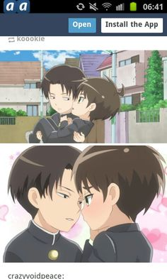 Oh, the pain!! :S <3<3<3<3 (good pain ofcourse) Im in love eoth them love! :) (-Junior high, Eren x Levi, Riren, Ereri, Aot, Snk)