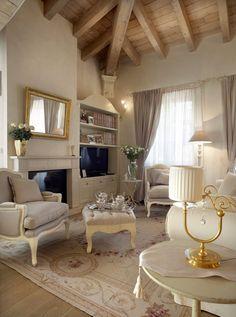 Cottage decor: Living room | via Elixir Undicilandia