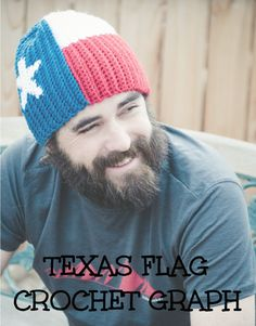 CROCHET GRAPH Texas Flag Color Grid for by PlayinHookyDesigns, $1.50