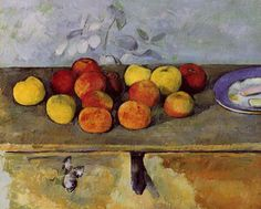Paul Cézanne (1839-1906)   Apples and Biscuits