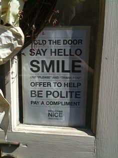 etiquette rules
