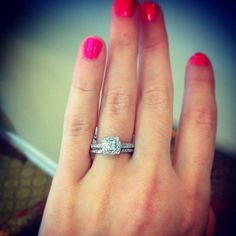 Engagement Rings 2017  Princess cut engagement ring and matching band for under $1000!! raymondleejewe