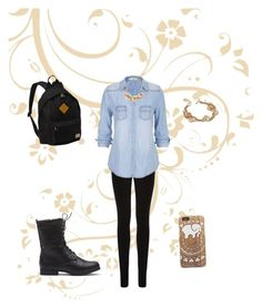 """""""School outfit"""" by julietantonia on Polyvore featuring Everest, Oasis, maurices, The Limited, Tory Burch, BackToSchool, Boots and pearls"""