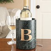 Personalized Marble Wine Chillers And Stoppers Monogram wine cooler is nice