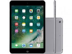 """iPad Mini Apple 32GB Cinza Espacial Tela 7,9"""" - Retina Proc. Chip A7 Câm. 5MP + Frontal iOS 10 de R$ 2.849,00 por R$ 2.499,90 em até 10x de R$ 249,99 sem juros."""