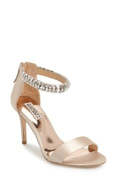Badgley Mischka 'Carlotta' Crystal Embellished Ankle Strap Sandal (Women) available at #Nordstrom