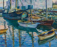 """""""Gloucester Harbor,"""" Charles S. Kaelin, oil on canvas, 20 x 24"""", private collection."""