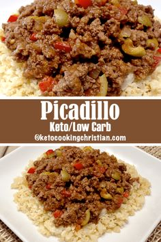 Picadillo over Cauliflower Rice - Keto and Low Carb This is such a simple dish to make and if you don't want to meal prep, you can cut the recipe in half for 4 servings. By no means is this the official version of Cuban Picadillo, I just happen to love it Cetogenic Diet, Ketogenic Diet Meal Plan, Diet Plan Menu, Diet Meal Plans, Ketogenic Recipes, Low Carb Recipes, Diet Recipes, Healthy Recipes, Food Plan