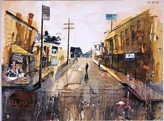 expressionist urban paintings