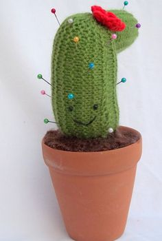 Knitted Pincushion - Cactus Decorative Pin Cushion. £5.50, via Etsy.
