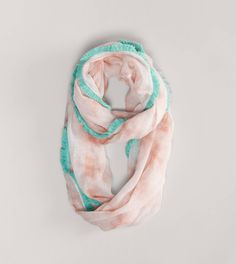Peach and mint?  I think so!  AEO Tie-Dyed Fringe Scarf
