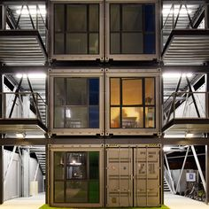 Shipping Container Apartment Building - Shipping Container Homes - How to Plan, Design and Build your own House out of Cargo Containers - #shippingcontainer