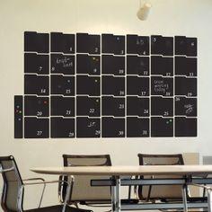 Chalkboard month planner wall stickers