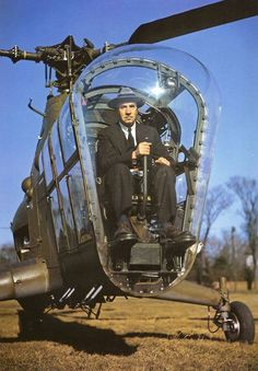 Igor Sikorsky at the controls of an S-51