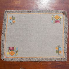 Delicieux Hand Embroidered Table Cloth Cross Stitch Table Cloth By RugsNBags