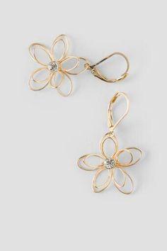Andie Flower Crystal Drop Earrings