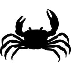 Crab Silhouette Bathroom Wall