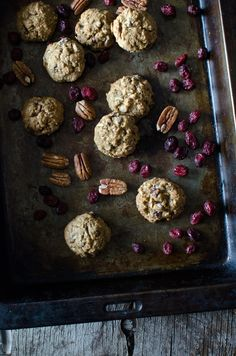 Cowboy Cookies. With rolled oats, dried cranberries and pecans, they're almost good for you!