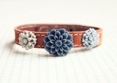 GDO Authentic suede Flora bracelet by girlsdayout on Etsy, $25.00