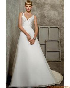Robe de mariée collection taille empire col V