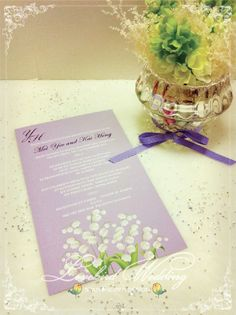 Invitation with lily of the valley