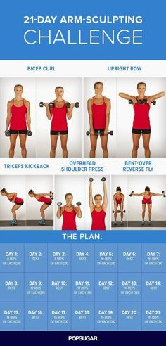 Arm Workout Challenge for Women to Lose Arm Fat If you're wondering how to lose arm fat fast?, give this 30 day arm workout challenge a go. Your arms are an important part of your body. In fact, there is no…Read more → Body Fitness, Fitness Diet, Health Fitness, Workout Fitness, Fat Workout, Mens Fitness, Arm Day Workout, Free Weight Arm Workout, Arm Workout Challenge