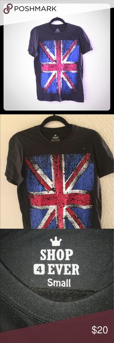 London Flag T-shirt. Size Small NWOT London Flag T-shirt. Size Small NWOT. Fun design and a sturdy basic Tshirt. Good with jeans or cut offs. Tops Tees - Short Sleeve