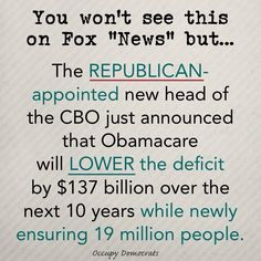 Obamacare Repeal Would Swell The Deficit Even Using GOP's New Math, Budget Office Says Political Memes, Political Cartoons, Funky Quotes, Text Types, Religion And Politics, We Are The World, Right Wing, Deceit, Republican Party