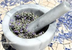 """Condo Blues: How to Make Lavender Essential Oil""--love this!  and it might be just the excuse I need to invest in a mortar & pestle (although you could do this without)"