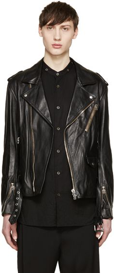 3.1 Phillip Lim - Black Leather Moto Jacket