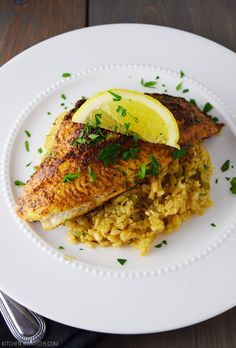 Blackened catfish over Cajun rice is a simplified New Orleans inspired dish that is spicy and delicious.