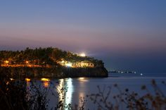 miss my home away from home...  the lighthouse of Chalkis at night by feleris, via Flickr World Traveler, Home And Away, Lighthouse, Greece, To Go, River, Island, Sunset, Night