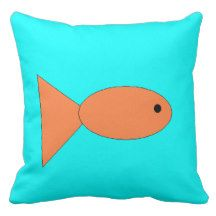Fish swimming in Ocean, Kids Art, Sealife Pillows