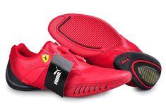 Puma Leather Ferrari Shoes Red