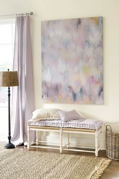 Giclee art print in purples and pinks