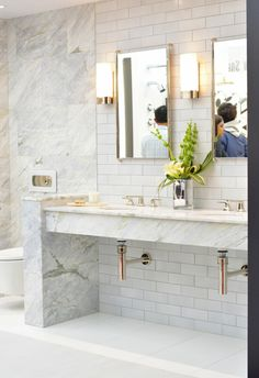 Marble & Marble look finishes are still going strong - Kitchen & Bath Trends 2016 | Centsational Girl